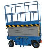 Sjy0.3-8 8m ciseaux plate-forme de levage hydraulique mobile