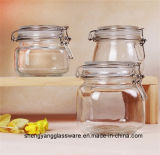 Frasco de vidro de vidro do recipiente de alimento do frasco do armazenamento do mel da amostra livre com selo hermético