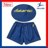 Cortocircuitos menores de la liga del rugbi de la venta de Healong de la sublimación caliente de la ropa de deportes