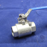 2000wog Stainless Steel Thread 2PC Ball Valve