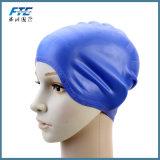 カスタムロゴの防水シリコーンの帽子の水泳帽