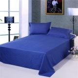 安い綿の縞の濃紺のホテルの寝具のコレクションセット