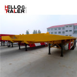 Hete Verkoop 3 Assen Semi Aanhangwagen van het Nut van het Bed van de Container van 40 voet de Vlakke