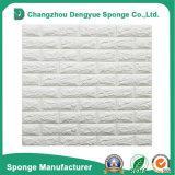 Los paneles de la etiqueta engomada del papel de empapelar de la espuma del PE de la protección del medio ambiente 3D de la decoración interior