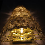 Hotel europeo decorativo fuori dalla lampada da parete di lusso del fiore di vetro bianco