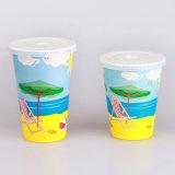 Soda-kaltes Getränk-Wegwerfpapiercup mit Kappen