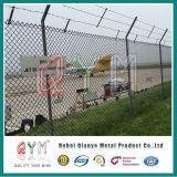 Recubierto de PVC de alta seguridad de malla de alambre soldado cerca del aeropuerto