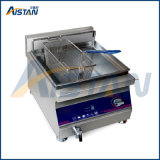 Alta eficiência de aquecimento por indução de cozinha comercial numa chapa grill panela eléctrica
