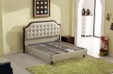 Foshan-Stadt-Möbel-Hersteller-Form-Schlafzimmer-modernes ledernes weiches Bett