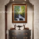 De Olieverfschilderijen van het Mes van het Palet van de Watervallen van de bosbouw