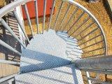 Escalera espiral de acero galvanizada de la INMERSIÓN caliente