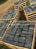 Pedra cúbica de basalto preto para construção