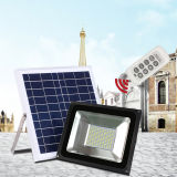 12V/24V 40With60Wのポーランド人によって取付けられる再充電可能な洪水LEDの太陽街灯
