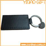 Trousseau de clés en cuir véritable avec le texte d'estampillage sur (YB-LK-11)