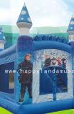 Надувной замок перемычки Bouncer замороженные тема