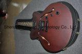 Kits de guitare de bricolage / Semi Hollow-Body Jazz guitare électrique dans la matte le vin rouge (TJ-113)