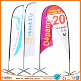 Популярный пляж рекламной акции флаги