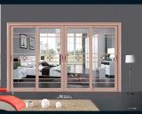 Portes en aluminium en métal de portes de portes de tissu pour rideaux de portes coulissantes