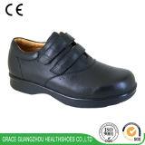 La salute di tolleranza calza le calzature di comodità del cuoio genuino & le calzature diabetiche