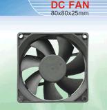 Охлаждающий вентилятор DC. Размер 80*80*25mm с аттестацией Ce&UL