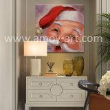 Pitture a olio sveglie del Babbo Natale del fronte del bambino per la decorazione di natale