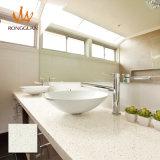 Marmo artificiale di colore bianco caldo di vendita per la parte superiore di vanità (QG206)