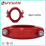 Couplage de plomberie rainuré avec la couleur rouge