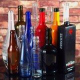 Bouteille en verre faite sur commande, bouteille d'esprit, bouteille de vin, bouteille à bière