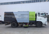 6 바퀴 도로 스위퍼 트럭 8m3 진공 청소 트럭