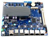 Scheda madre del router del PC della parete refrattaria con 4*RJ45, 8*USB