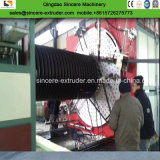 De HDPE Hollowness parede do tubo de liquidação linha de extrusão/Máquina de Fazer
