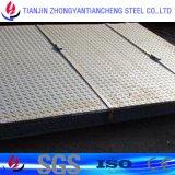 Slip-Resistant plaque en acier laminés à chaud en acier Stock