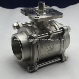 A351 CF8/CF8m 3 Pieces Ball Valve with Mouting Propellent-actuated device