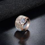 실제적인 입방 지르콘 형식 반지를 놓는 금에 의하여 도금되는 견인삭