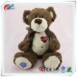 Het rode Stuk speelgoed van de Pluche van de Teddybeer van de Douane van Embrodier van het Hart