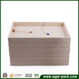 Classical beige Linen Jewelry display Tray