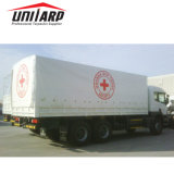 tela incatramata ricoperta PVC di 1000d 610GSM per il coperchio del camion