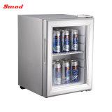 Mini refrigerador de la barra de la puerta del refrigerador de cristal de la tapa contraria