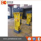 Disjuntor concreto hidráulico para a quebra da estrada