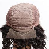 130% Dichte-Jungfrau-brasilianische Haar-Spitze-Vorderseite-Perücke/kurze Glueless volle Spitze-Menschenhaar-tiefe Wellen-lockige Perücken für schwarze Frauen