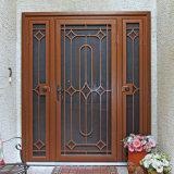 Porte grillagée faite sur commande exclusive de fer travaillé de garantie d'extérieur