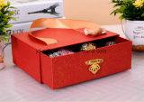 キャンデー、結婚祝いのためのリボンのハンドルが付いているカスタム引出しのペーパーギフト用の箱