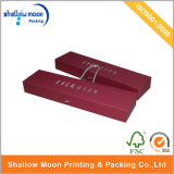 Diseño de empaquetado del rectángulo de la venta de la cartulina del regalo de la extensión de papel roja caliente de encargo del pelo (QYZ027)