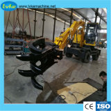 Escavatore idraulico di vendita 9ton del cingolo idraulico caldo della rotella con il martello della rottura pinza di residuo della potatura meccanica/della benna