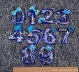 Número 3D Carta cordões de cristal de Patch Motif Applique acessórios de vestuário