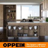 インドネシア旧式なPP MDFの木の台所家具(OP15-PP08)