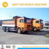 5.4m Shacman F2000 6by4 덤프 트럭 정면 기울이는 트럭