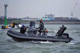 Aqualand 18 футов из стекловолокна 5.4m каркасных надувных катере/ребра спасения патруль/снаряжение для дайвинга и подводного плавания судна (ребра540A)