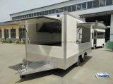 O restaurante móvel do Rotisserie da galinha do restaurante da placa quente transporta o reboque