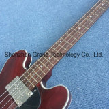 빨강 (GB-90)에 있는 4개의 끈 빈 바디 베이스 일렉트릭 기타
